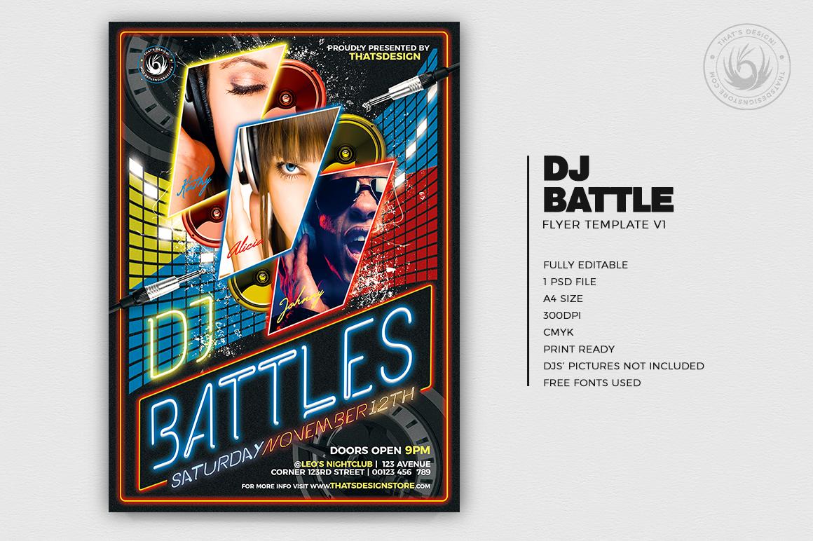 Dj Battle Flyer Template PSD