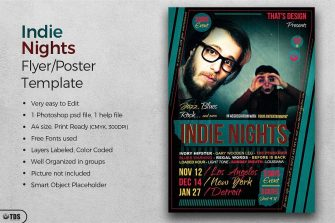 Indie Nights Flyer Poster Template