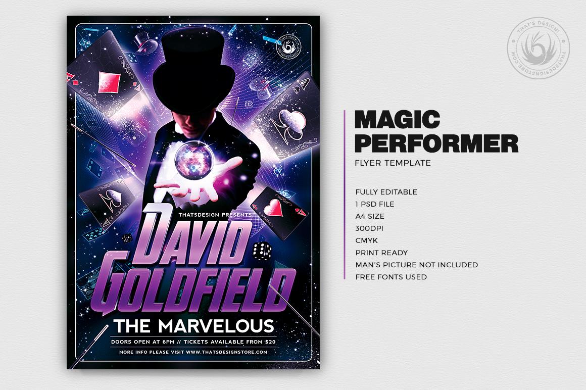 Magic Performer Flyer Template V2