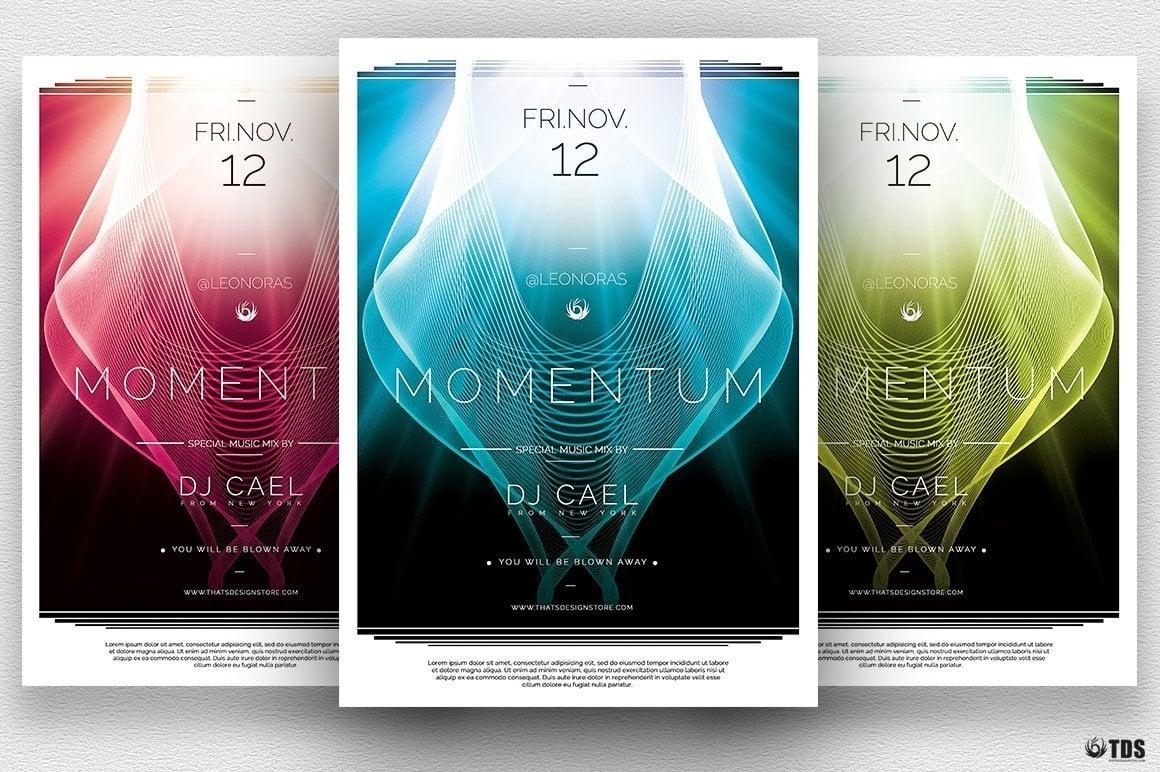 momentum minimal flyer template