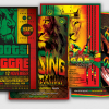 Reggae Flyer Psd Bundle, Rasta Psd Flyers design