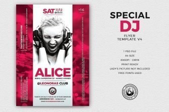Special Dj Flyer Template V4