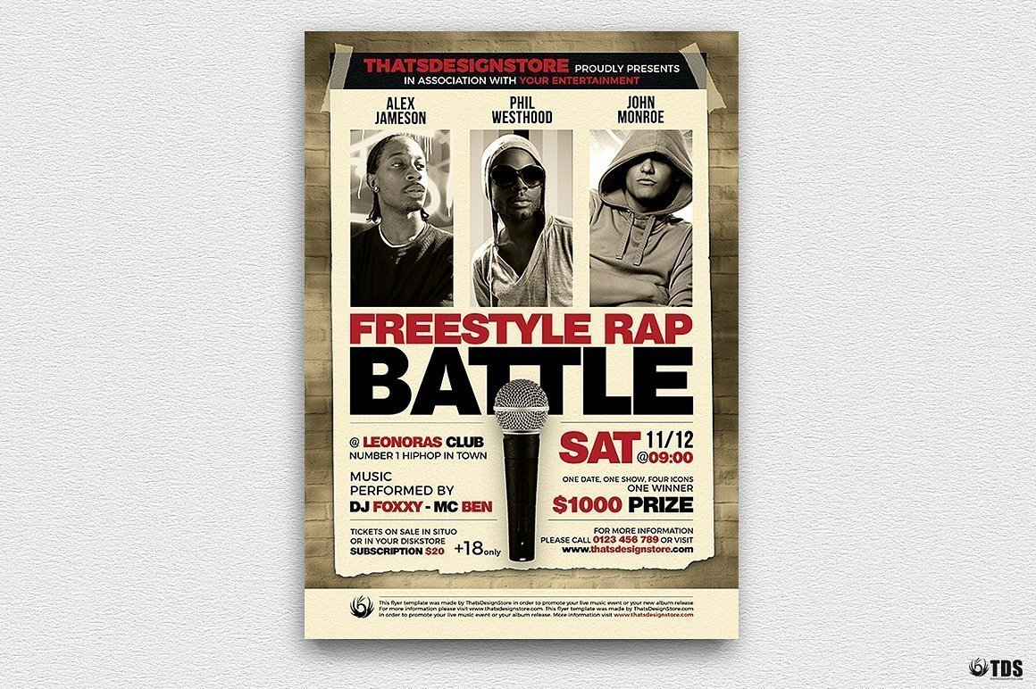 Freestyle Rap Battle Flyer V5