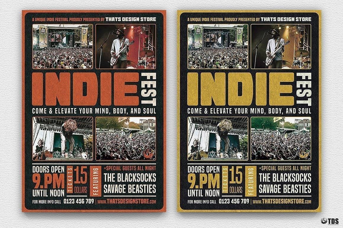 Indie Fest Flyer Template V1
