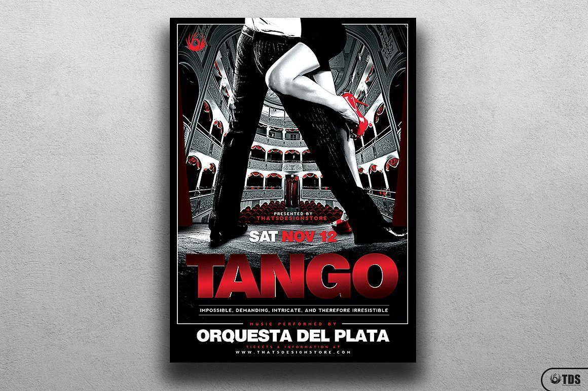 Tango Flyer Template psd to download for photoshop