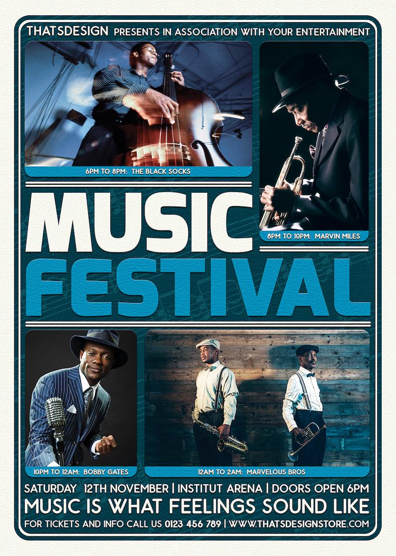 Music Festival Flyer Template PSD download V5