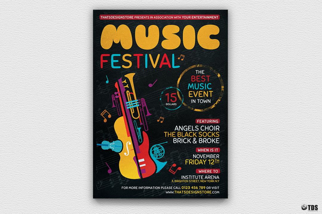 Music Festival Flyer Template V10