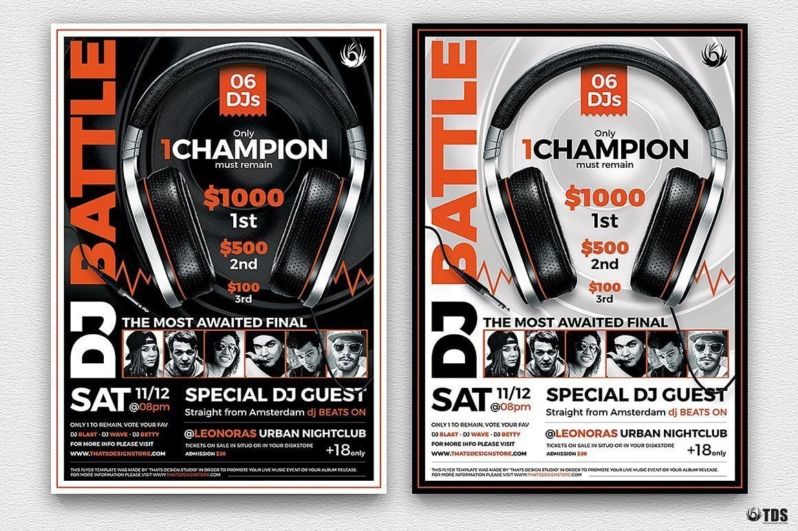 Dj Battle Flyer Psd Template To Download V5