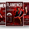 3 FLYERS - Flamenco Flyer Templates