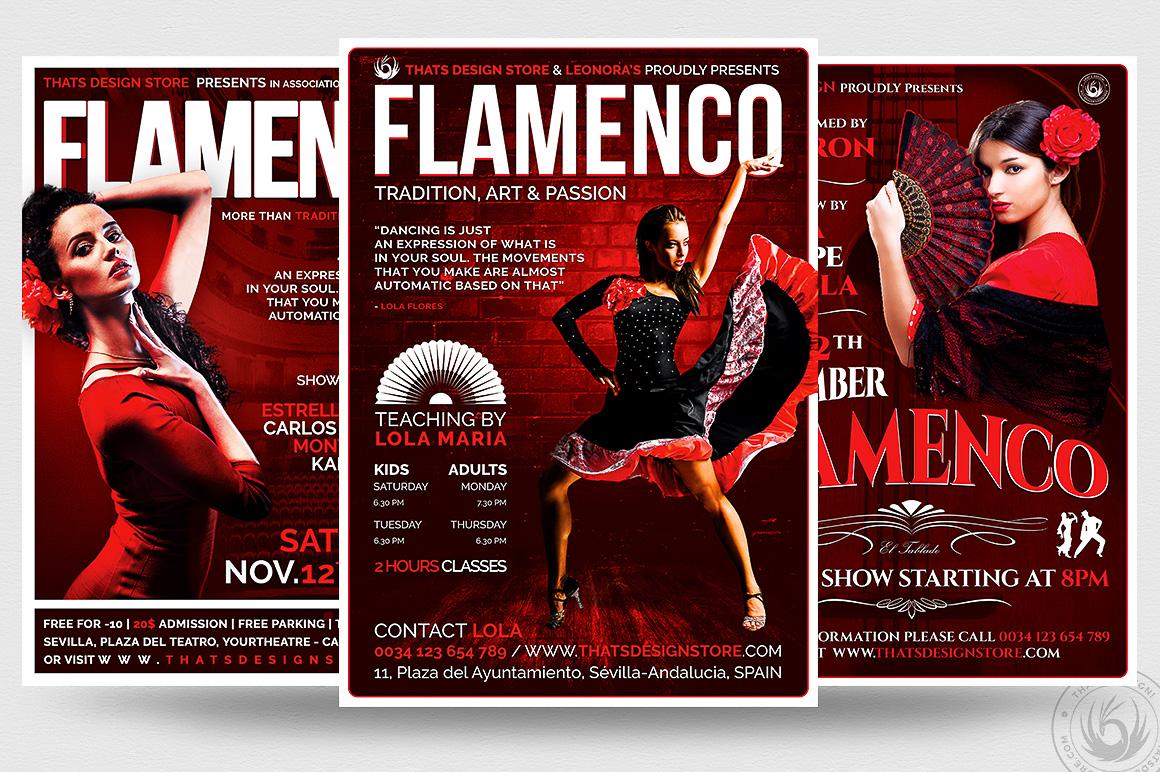 3 FLYERS - Flamenco Flyer Templates