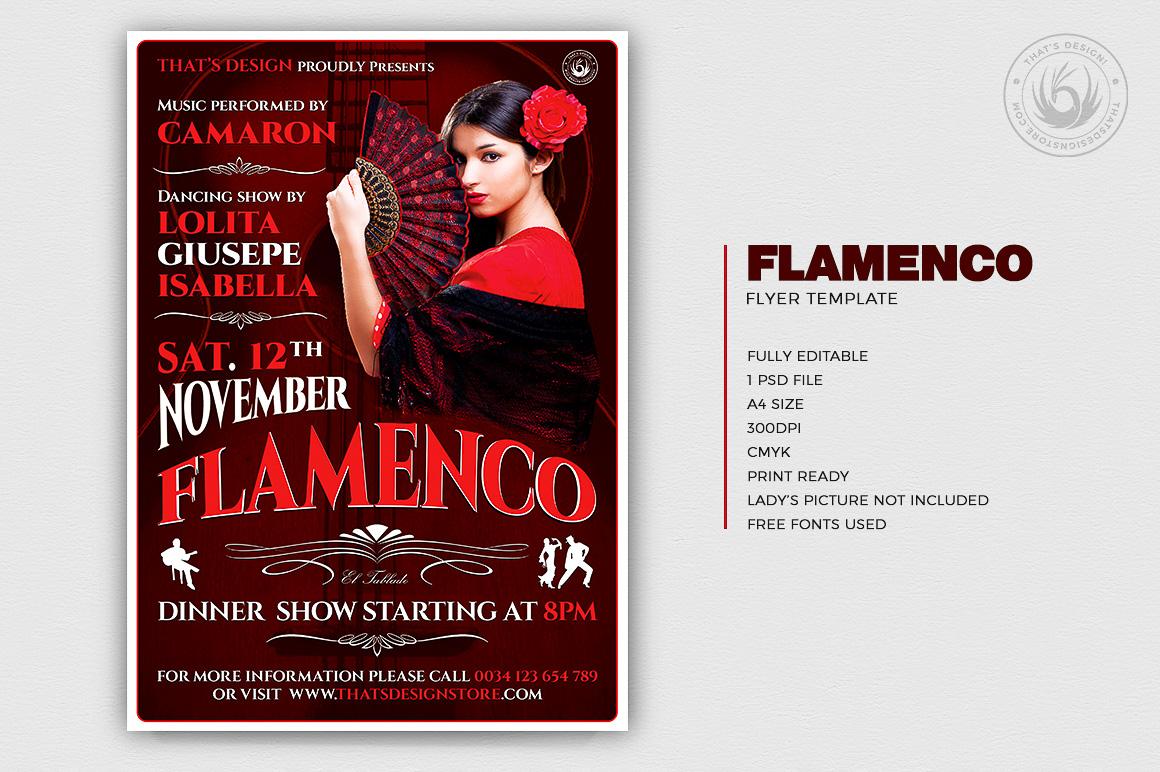 Flamenco Flyer Template V.2