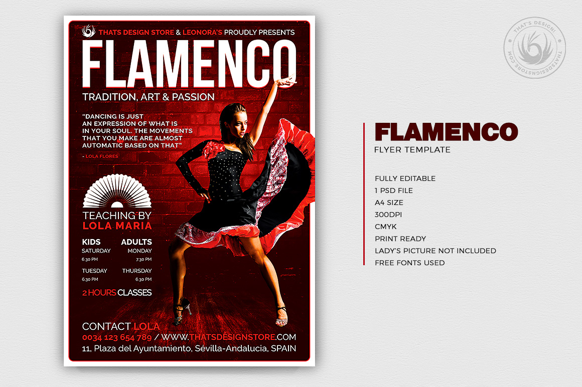 Flamenco Flyer Template V.3