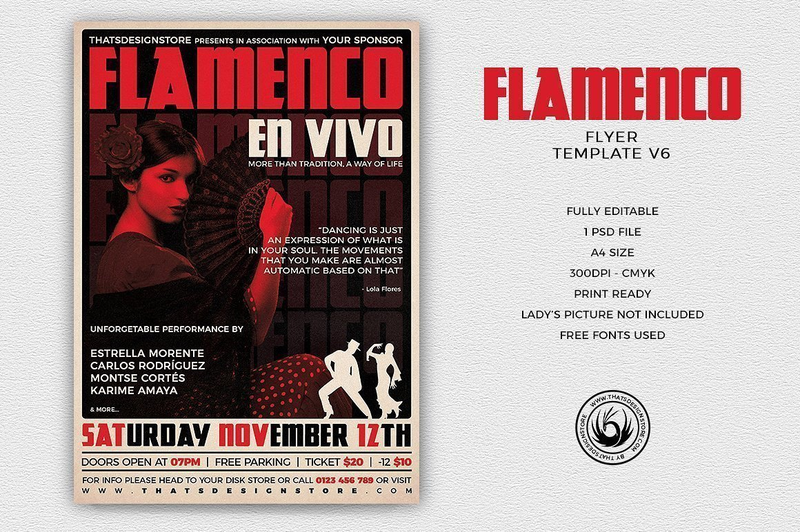 Flamenco Flyer Template V6