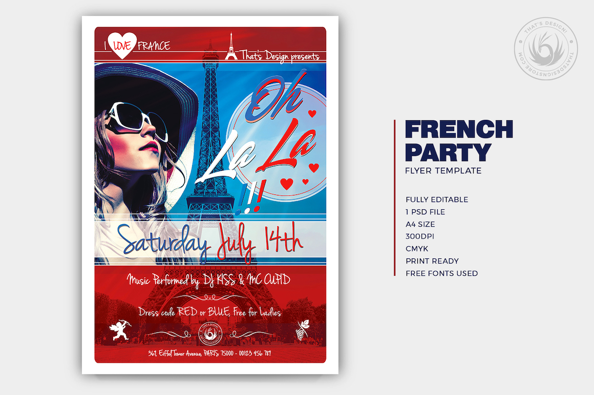 French Party Flyer Template V.2
