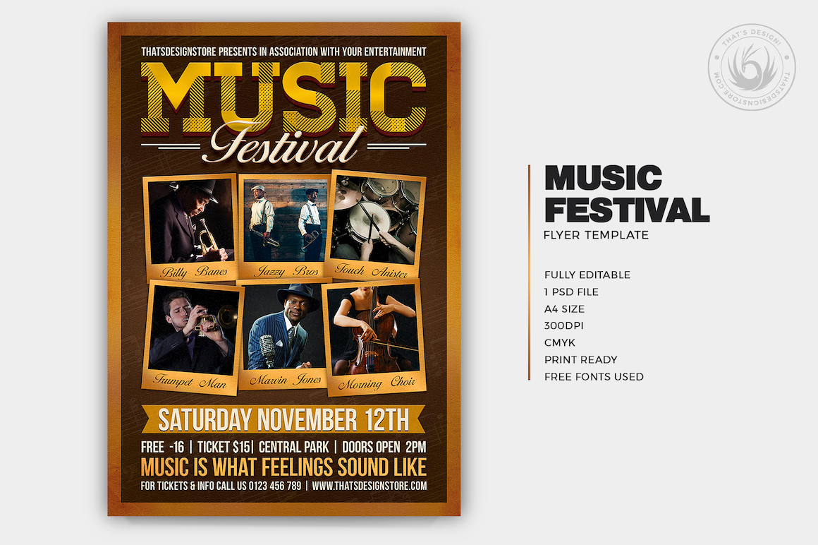 Music Festival Flyer Template V7