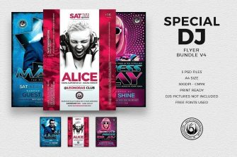 Special Dj Flyer Bundle V4