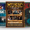 concert flyers psd templates to promote an Indie Rock Band, Dubstep, Pop Rock, Urban music band event, Gig, Alternative Music, Jazz Festival, Unplugged concert