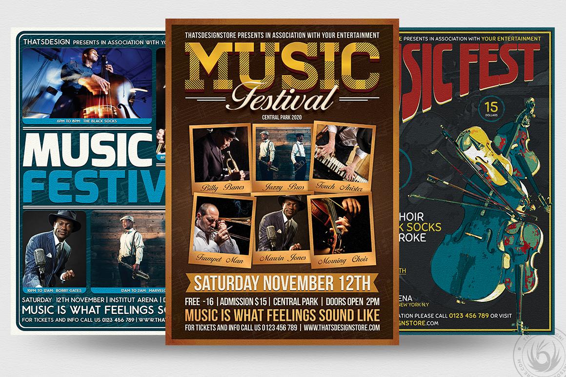 concert flyers psd templates