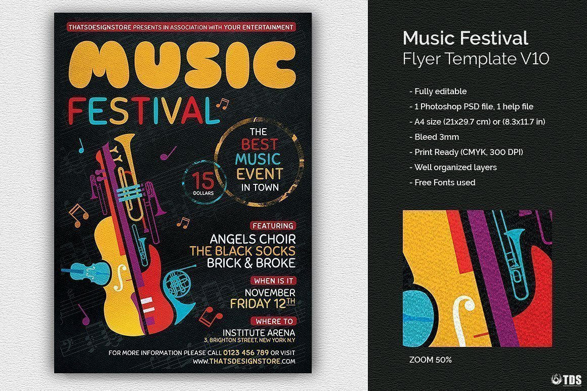 Music Festival Flyer Template V10