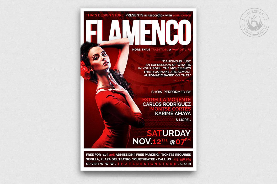 Flamenco Flyer Template V.1