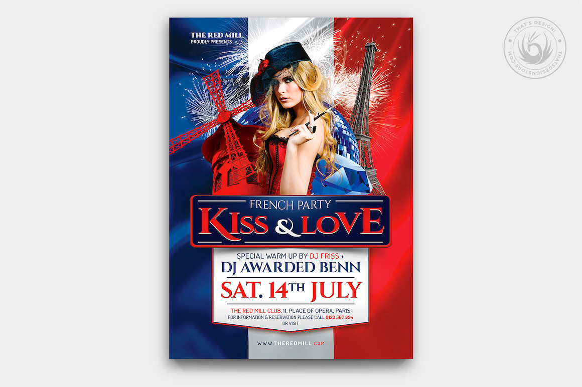 French Party Flyer Template V1