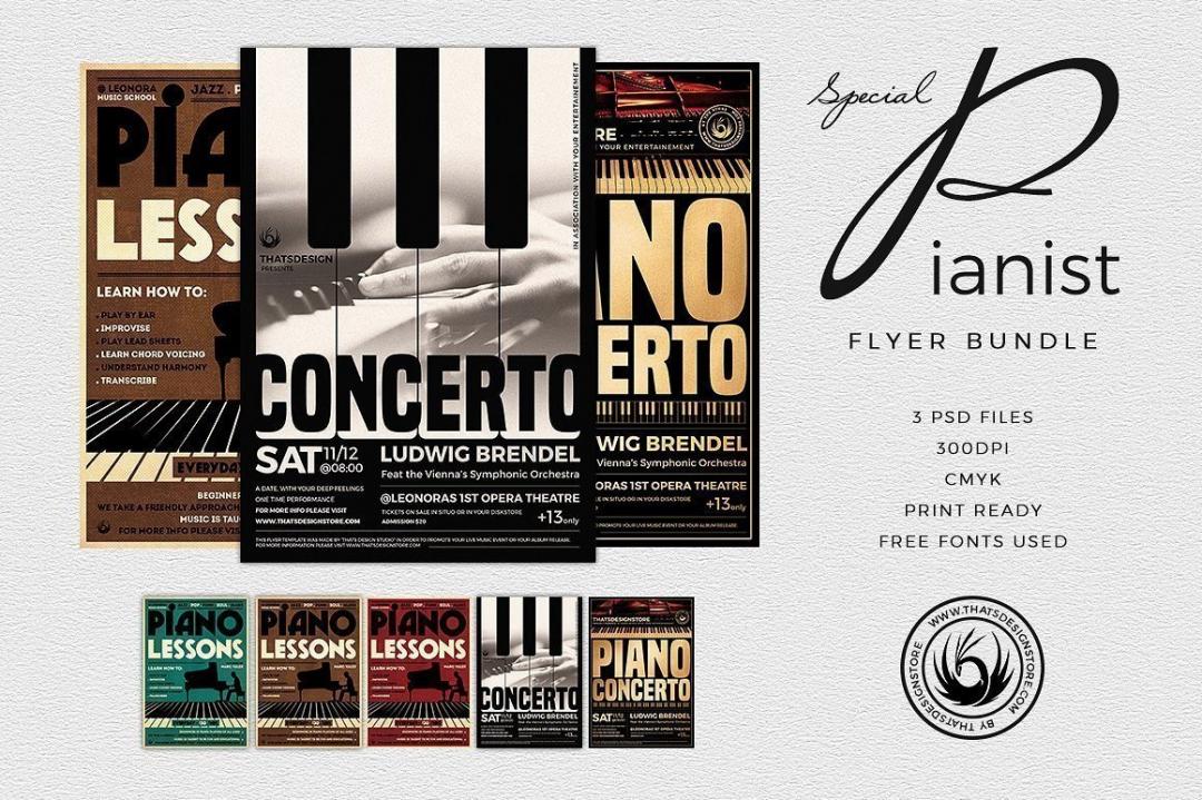 Special Pianist Flyer Bundle