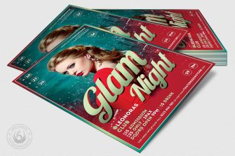Glam Night Flyer Template, Club flyers