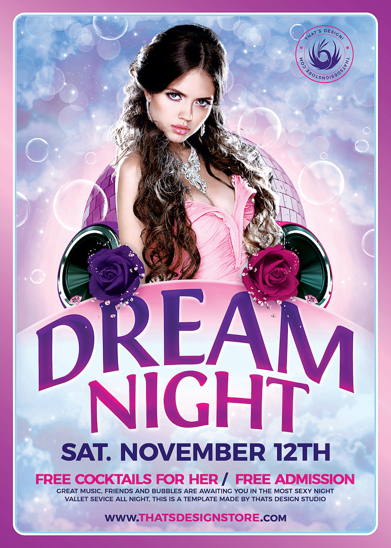 Club Flyers Template - Dream Night