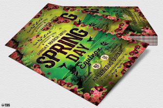 Spring Equinox Flyer Template Psd download V4