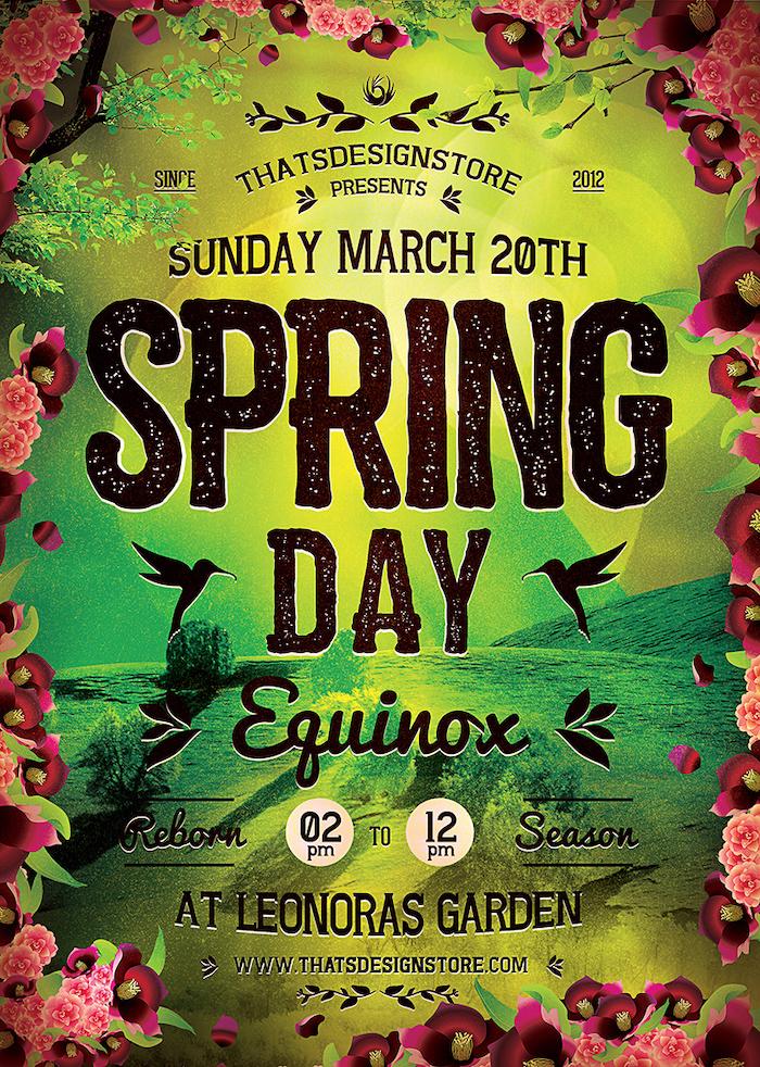 Spring Equinox Flyer Template V4