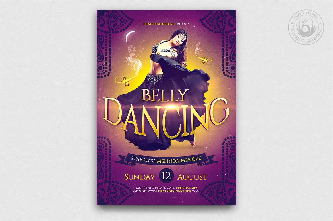 Belly Dancing Flyer Template, Arabian nights party, Shisha club, Ramadan Event