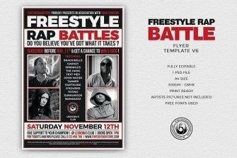 Freestyle Rap Battle Flyer V6