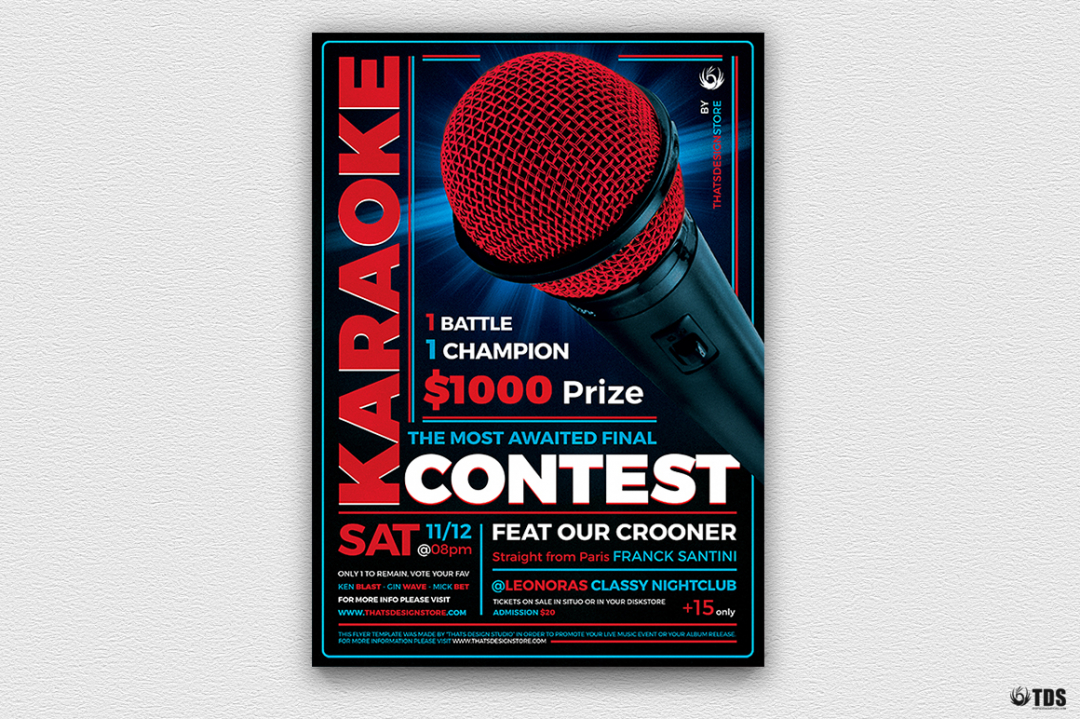 Download Karaoke Flyer Template Psd 100% editable