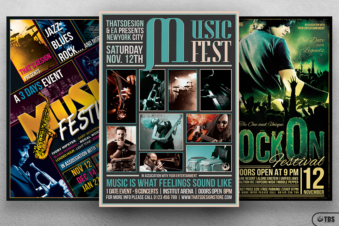 live band psd flyer templates v3