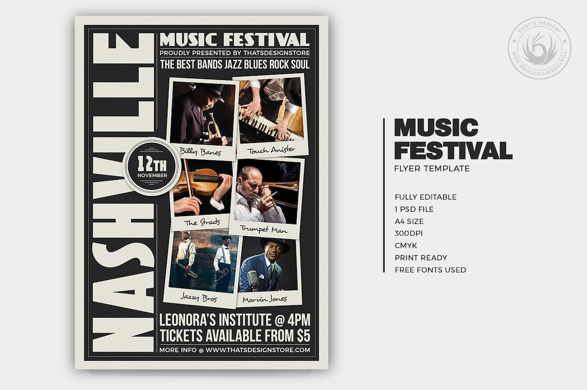 Music Festival Flyer Template V12