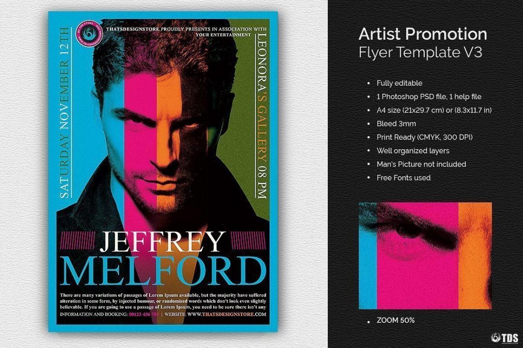 Artist Promotion Flyer Template psd download V3