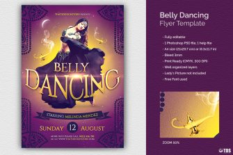 Belly Dancing Flyer Template, Arabian nights party, Shisha club, Ramadan Event