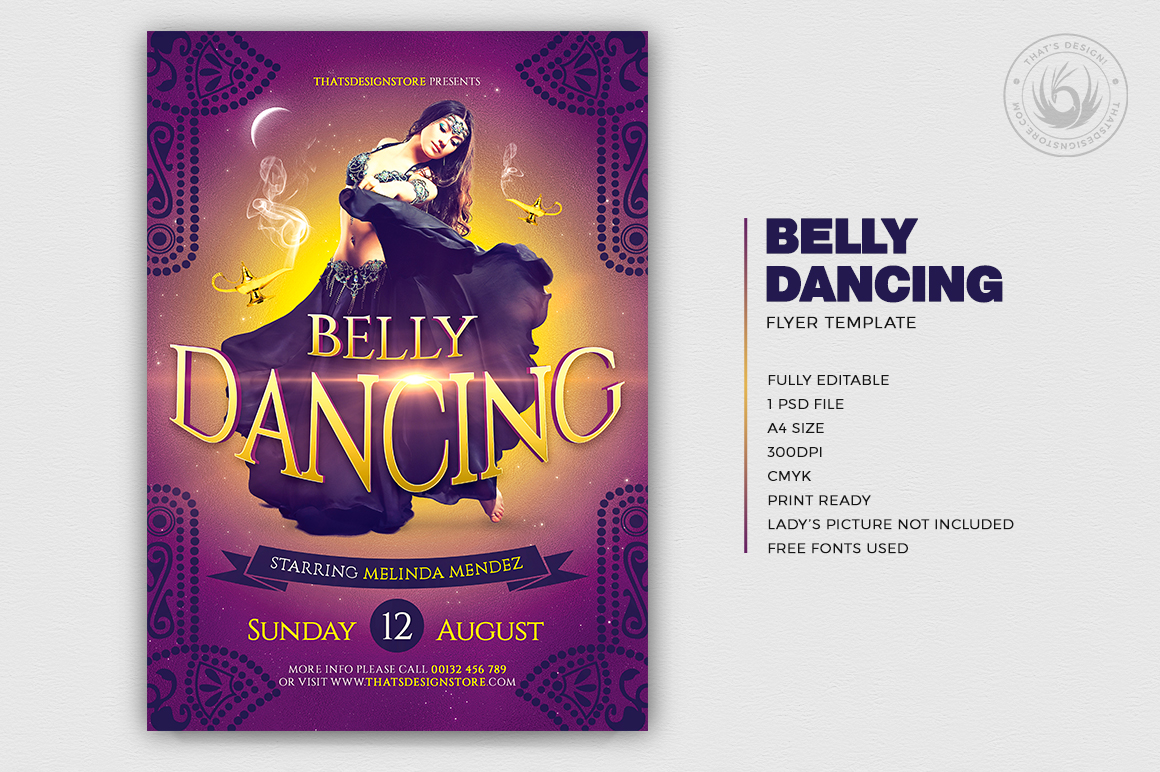 belly dancing flyer template thats design store