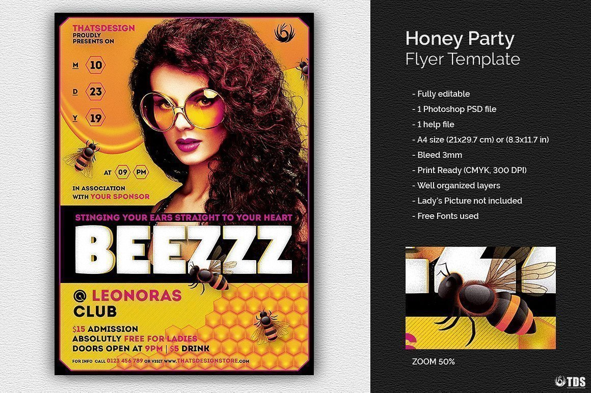 Honey Party Flyer Template