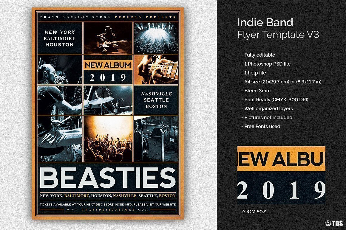 Customize 6 Concert/Band Flyer Templates