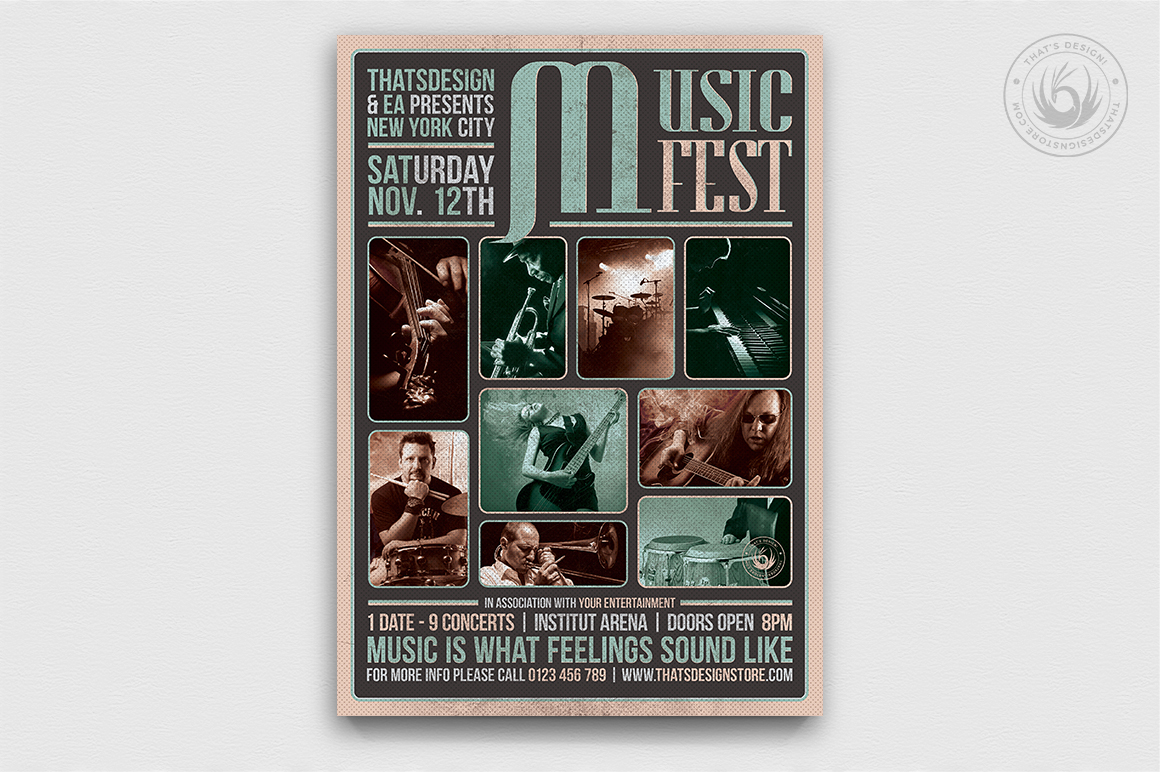 Music Festival Flyer Template V2