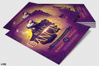 Belly Dancing Flyer Template, Arabian nights party, Shisha club, Ramadan Event,Psd download to customize with photoshop