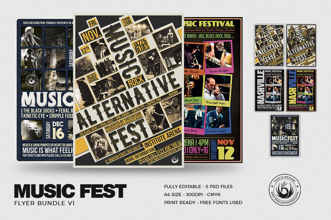 Music Festival Flyer Templates Bundle V1