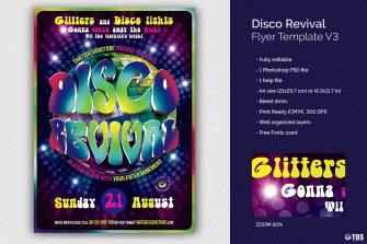 Disco Revival Flyer Template psd download V3