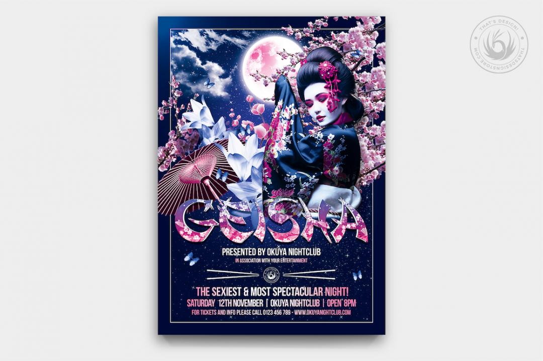 Geisha Party Flyer Template V2