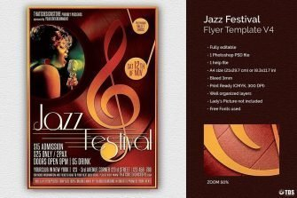 Jazz Festival Flyer Template V4