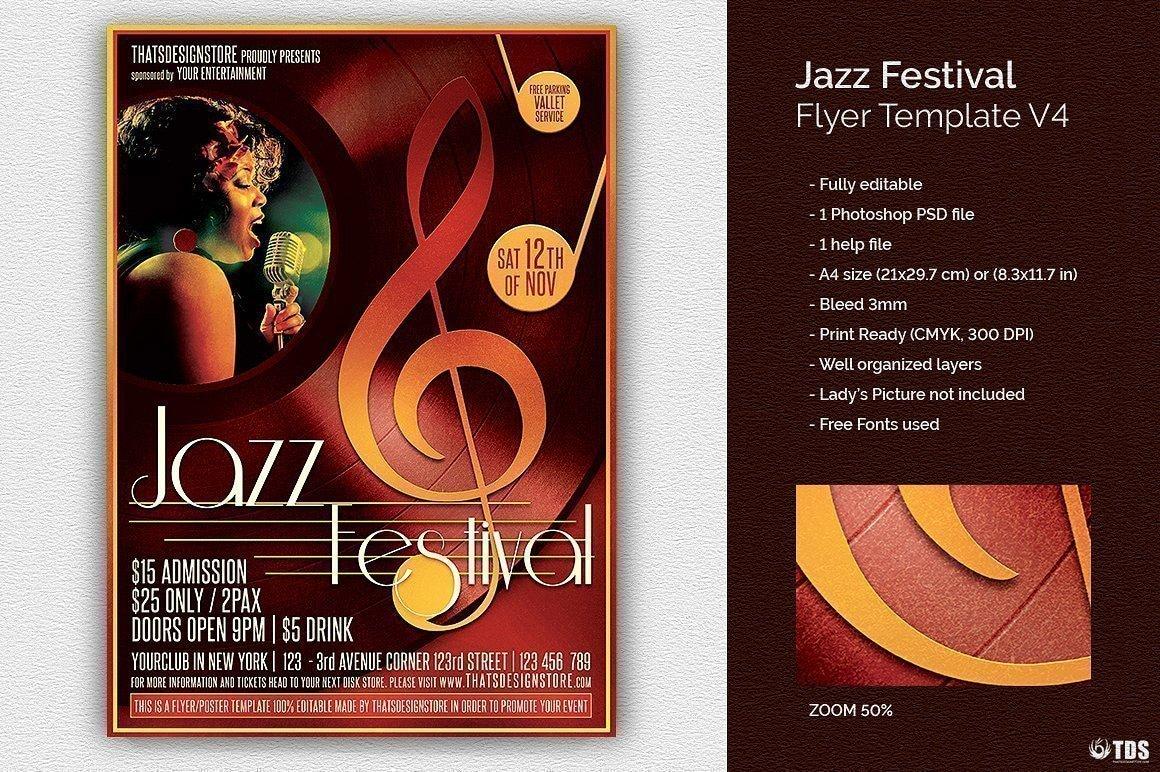 Jazz Festival Flyer Template V4