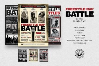 Freestyle Rap Battle Flyer Bundle V2
