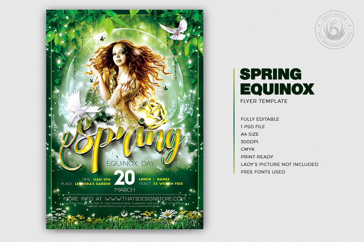 Spring Equinox Flyer Template V2