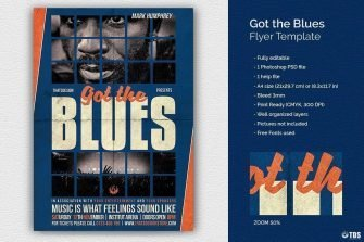 Got the Blues flyer Template